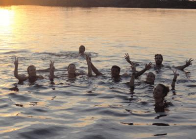 swiming laguna grande Cuyabeno Ecuador