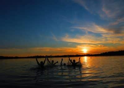 Swim in laguna grande, Cuyabeno