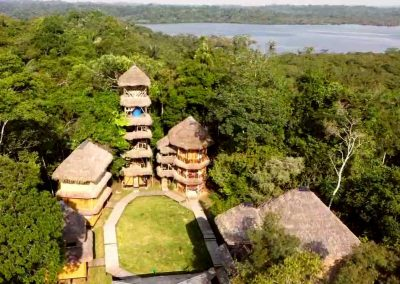 Bamboo Lodge Cuyabeno from above