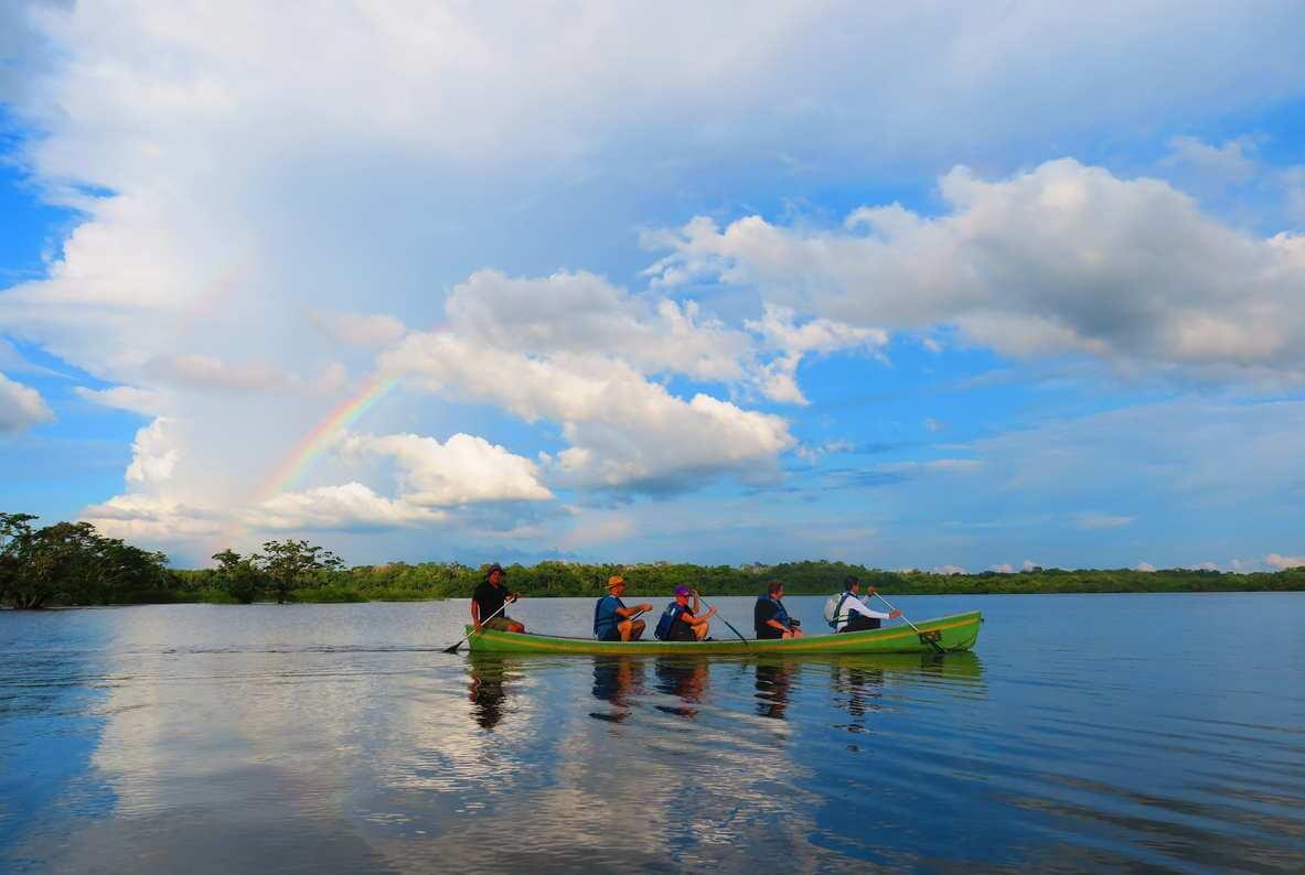 paddling in cuyabeno