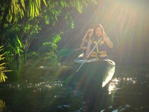 Paddling with Bamboo Lodge